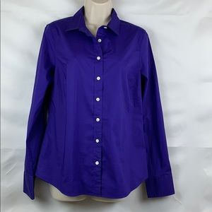 J crew Factory purple stretch classic button down
